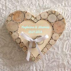 Ringkissen Hochzeit Herz Holz