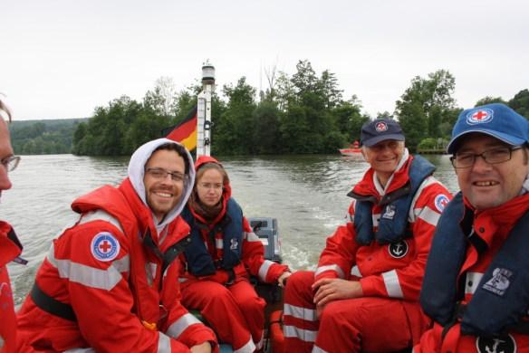 Die Berger Bootsführer unterwegs zur Praxisstation