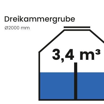 Dreikammergrube-3400l