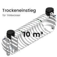 10m³ Behälter mit Trockeneinstieg