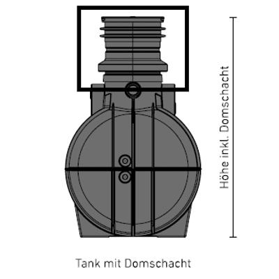 Domschachtverlängerung-Kunststofftank-Speidel
