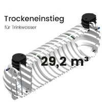 29,2 m³ Behälter mit Trockeneinstieg