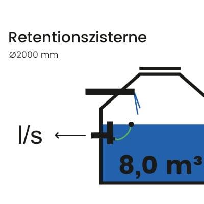Retentionszisterne-8000l