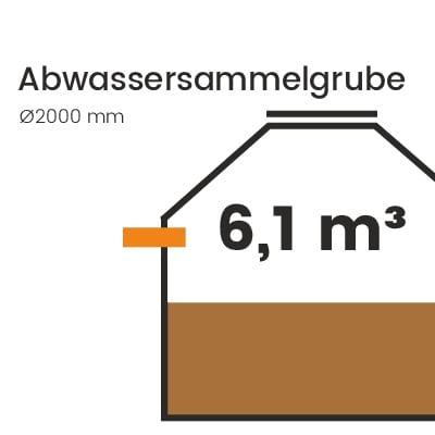 Abwassersammelgrube-6100l