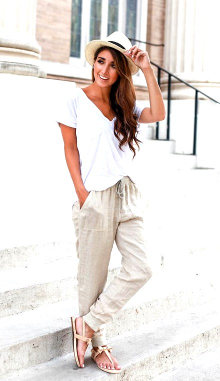 Best Cute Summer Pants Outfits Ideas