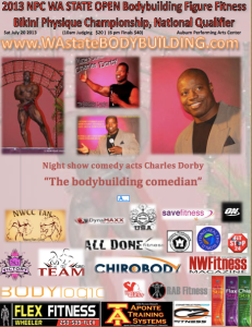 "Guest performer ""the bodybuilding comedian"" Charles Dorby Wa state bodybuilding"