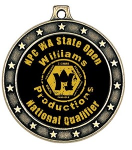 NPC WA STATE Open participation medal. All competitors