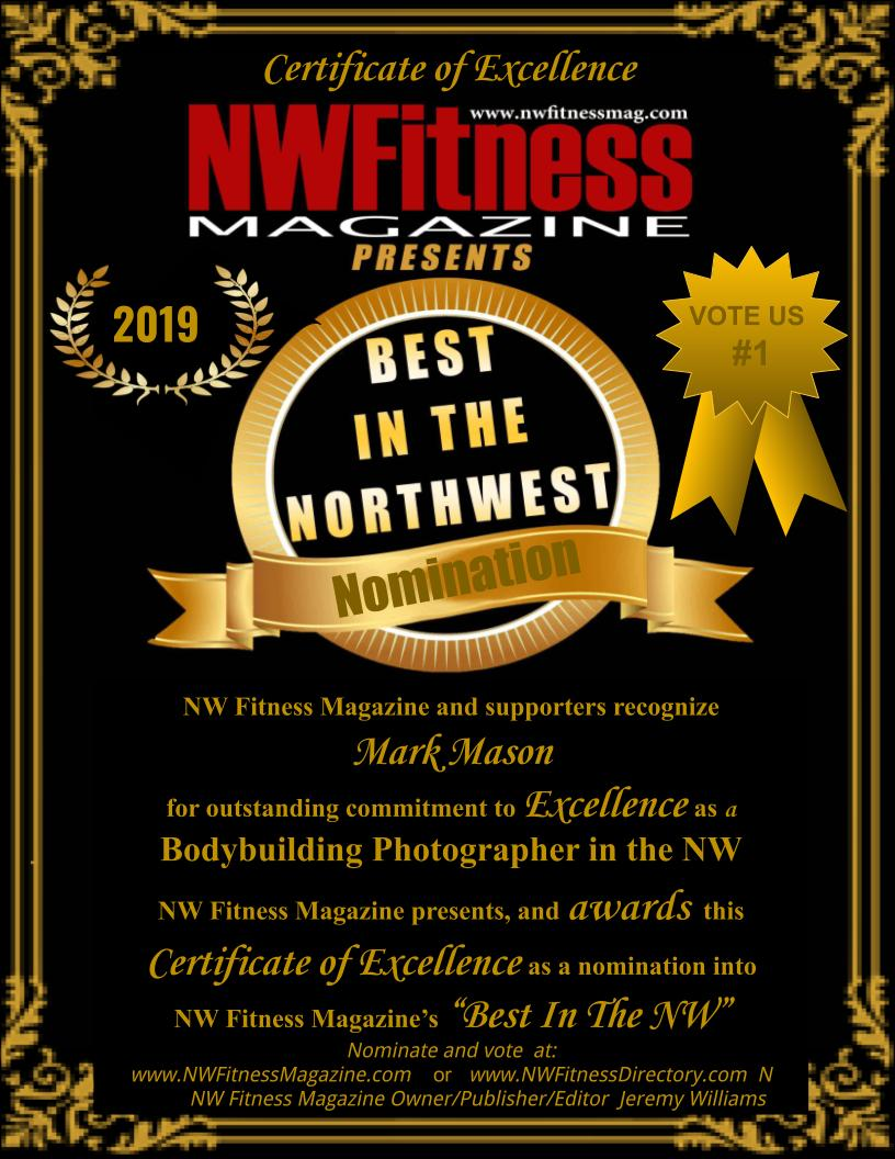 """NW Fitness Magazine """"Best in The NW"""" Recognition of Excellence"""