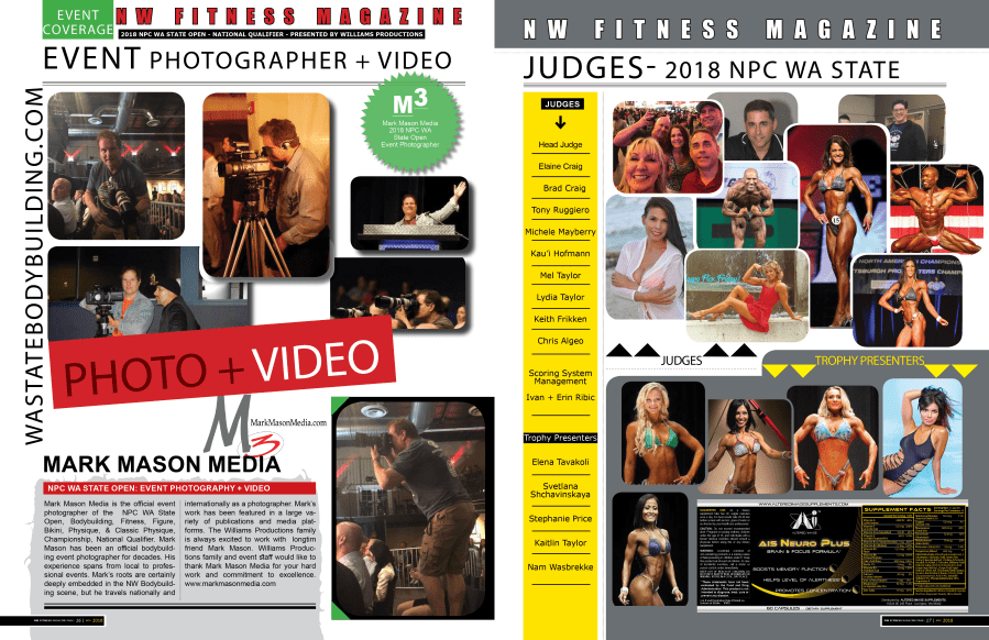 NPC Wa State Open Official Photographer - Mark Mason - Contest coverage by NW Fitness Magazine
