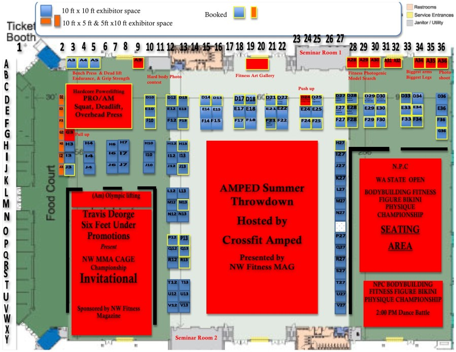 WA State Fitness EXPO Floor Plan
