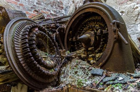 Eine alte Gipsfabrik