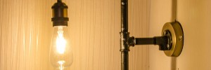 DIY Steampunk Wandlampe