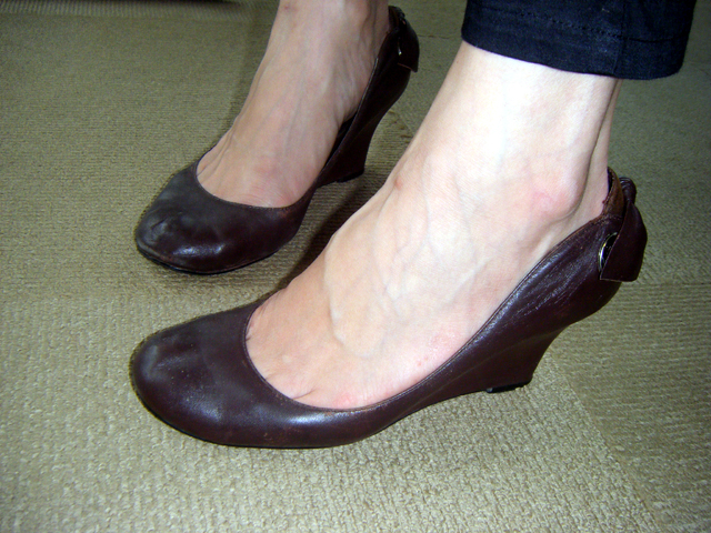 Lishan's Shoes are Chocolate Chic