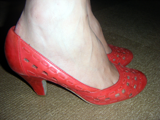 Red heels from Urban Outfitters