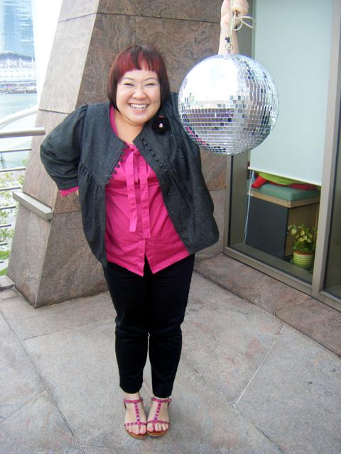 Pink & the pet disco ball