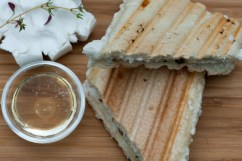 THYME: Goat cheese panini with thyme