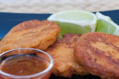 WHITE FISH: Fish cakes with Thai flavors