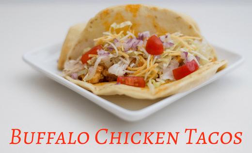 Quick + Easy Buffalo Chicken Tacos