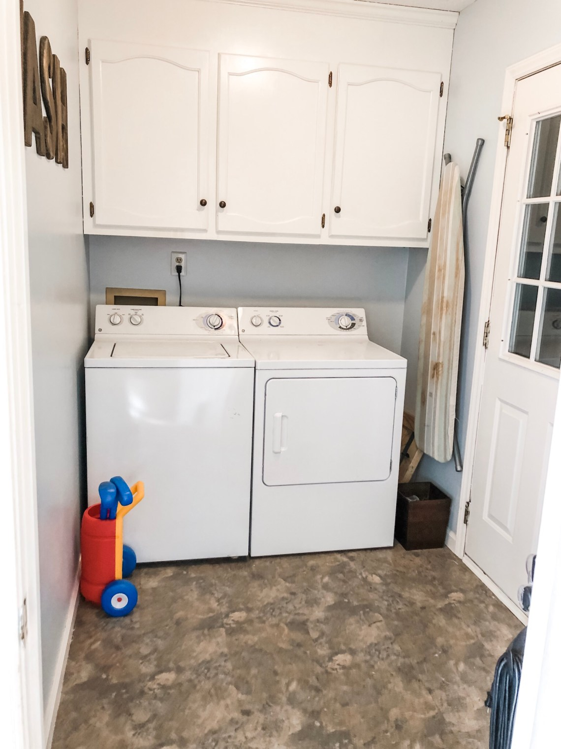 purging the laundry room