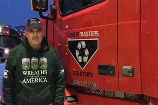 MICAEL ALAMORIAN OF WASTEMASTERS 3RD YEAR FOR WREATHS ACROSS AMERICA 2