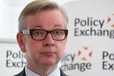 Image shows Michael Gove MP as he announces the new UK Waste Strategy 2017.