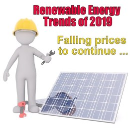 Image shows #2 trend in renewable energy prices dropping likely to continue.