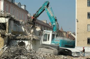 Image shows non mobile machinery excavation