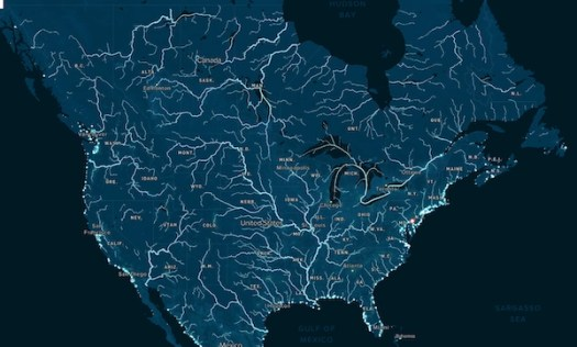 polluted rivers in USA