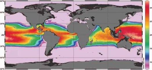 map of Wave currents