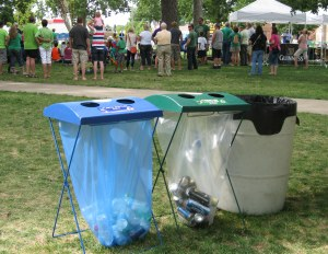 Event recycling equipment is available.