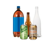 Other recyclable items include deposit bottles and cans.