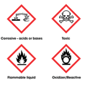 "Look for ""signal words"" on the packaging of hazardous materials."