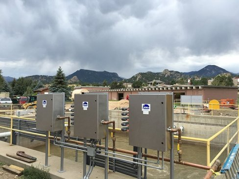 Pulsair bnr wastewater mixing system