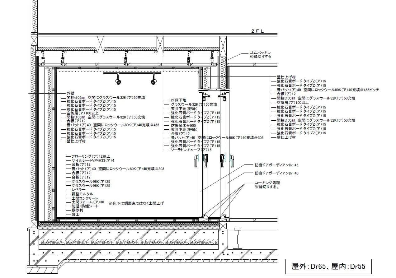 Dr65 遮音構造サンプル