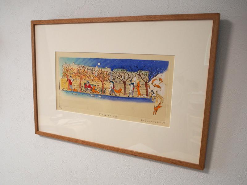 山本容子の版画「犬のルーカス」