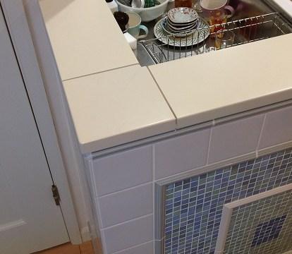 キッチン笠木の再塗装