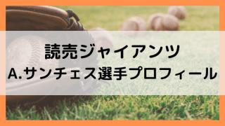 サンチェス(巨人)wikiプロフィール!変化球と速球で評価が高い!出身経歴も調査!