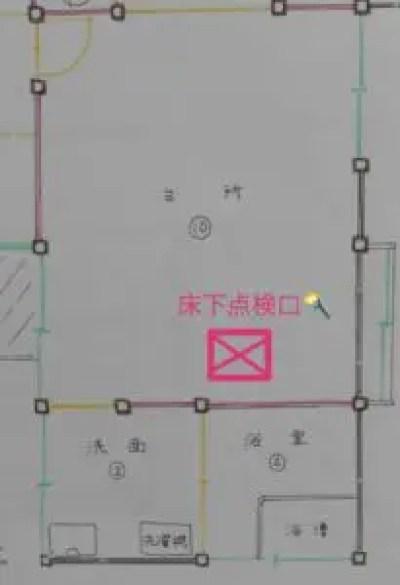 床下点検口の配置図