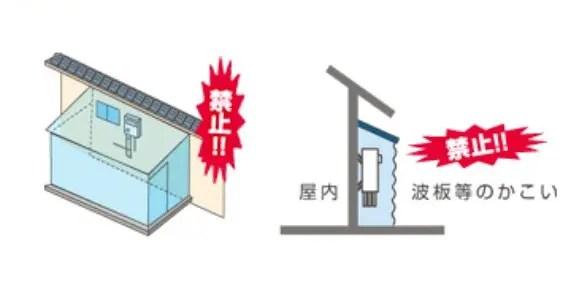 屋内設置の禁止