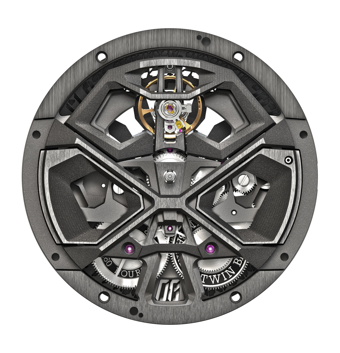 Roger Dubuis Excalibur Huracán Performante - Movement