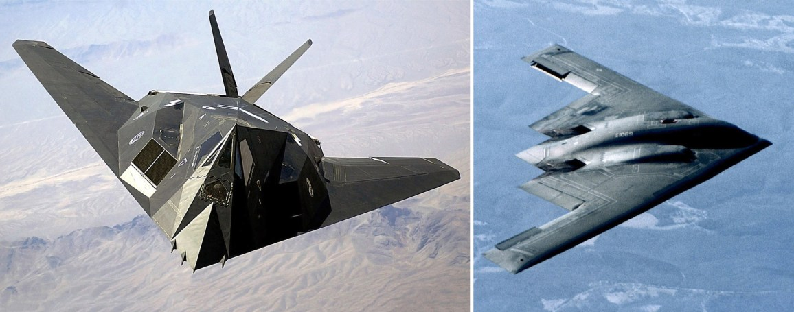 F-117_Nighthawk and B2_Spirit