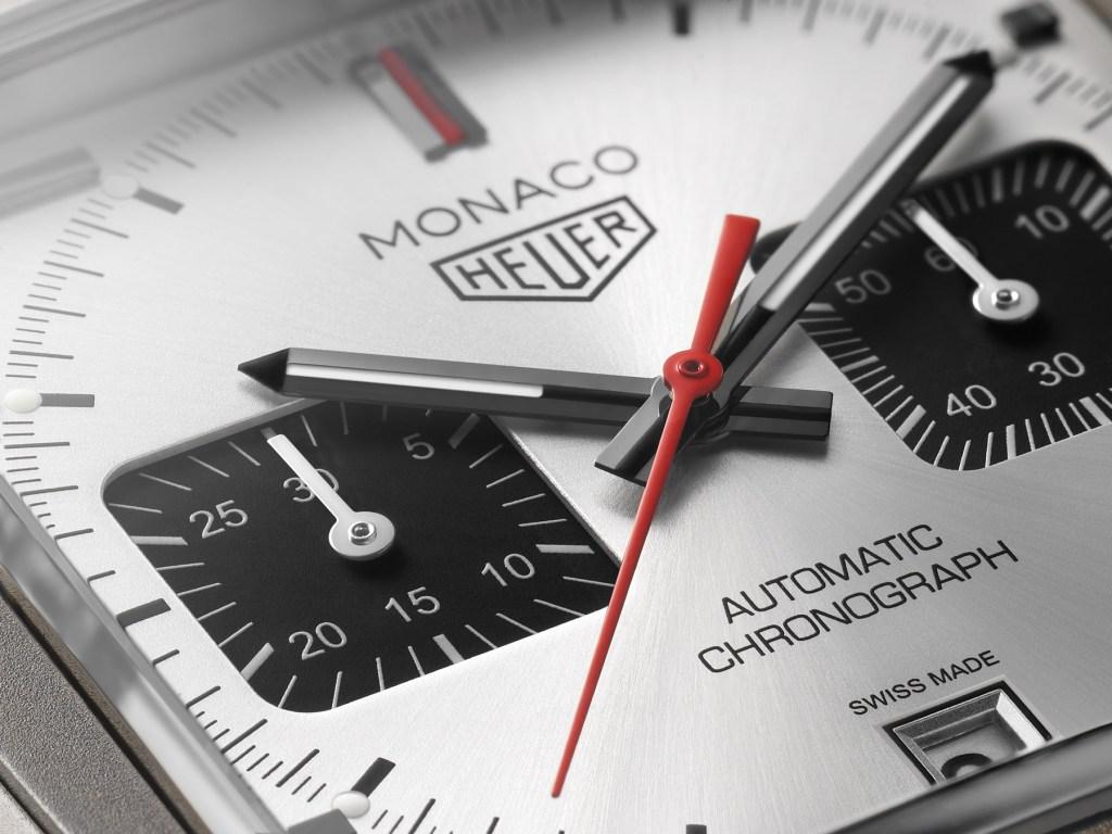 TAG Heuer Monaco Édition Spéciale Titane détail cadran