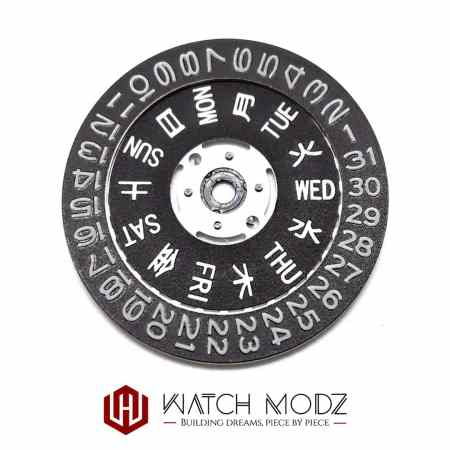 C3 Super-LumiNova lumed day and date wheel for nh36 movement
