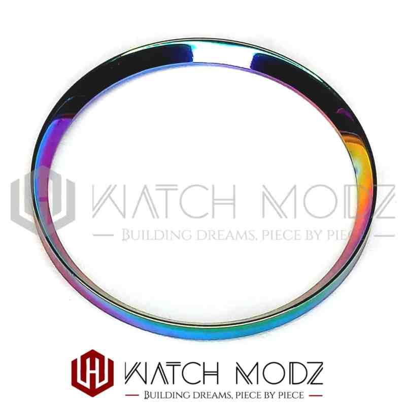Polished chameleon chapter ring for skx007