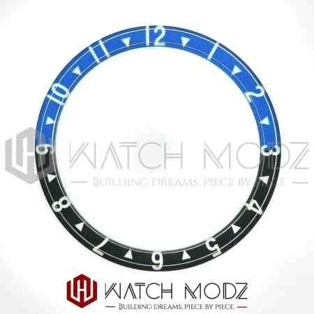 Batman dual time lumed glass bezel insert for skx007