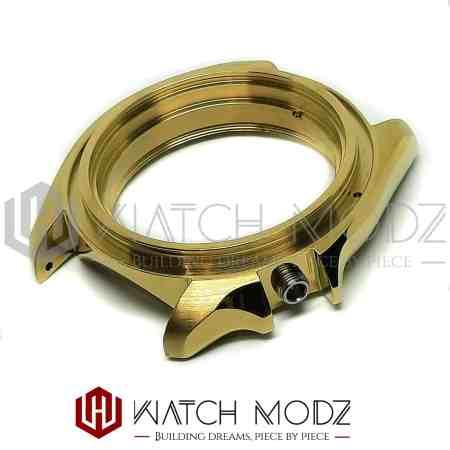 Polished gold skx007 case