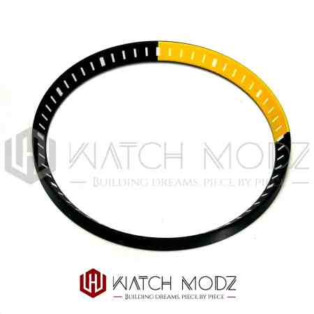 Black and yellow chapter ring for skx007