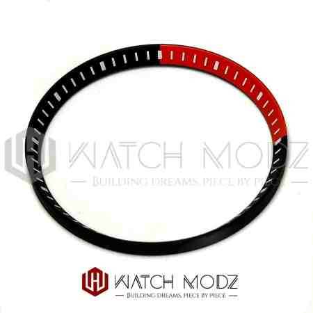 Black and red chapter ring for skx007