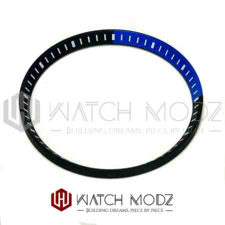 Black and blue chapter ring for skx007