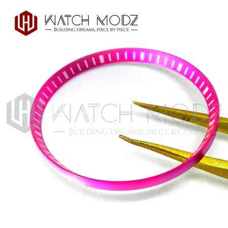 Pink Finish with White Markers Metal Chapter Ring